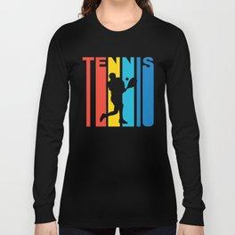 Retro 1970's Style Tennis Long Sleeve T-shirt
