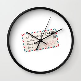Rush to Editor Zodiac Killer Wall Clock
