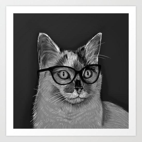 She's A Cool Cat Art Print