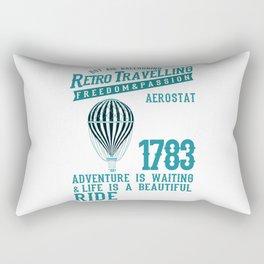 Retro Balloonist Hot Air Balloon Pilot Rectangular Pillow