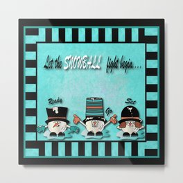 Let the Snowball Fight Begin Metal Print