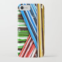 planes iPhone & iPod Cases featuring Striped Planes by Claudia McBain