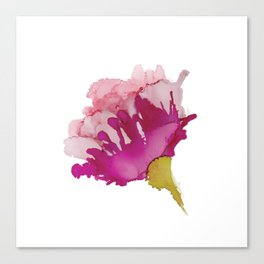 Alcohol Ink - Pink Floral Canvas Print