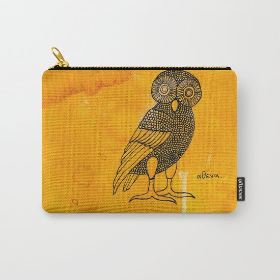 ATHENA'S OWL IN TEA & COFFEE BACKGROUND  Carry-All Pouch