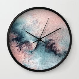 Pink and Blue Oasis Wall Clock