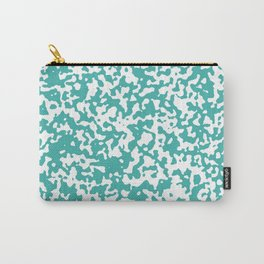 Small Spots - White and Verdigris Carry-All Pouch