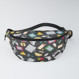 Gamer Video Game Controllers Fast Food Pattern Fanny Pack
