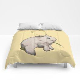 alien rabbit Comforters