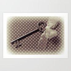 Vintage key Art Print