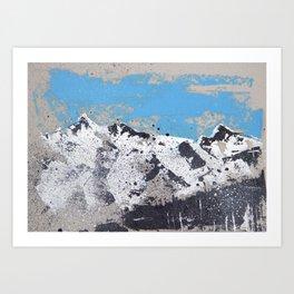 Mountain view from Saas Fee Art Print