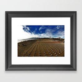 Cross Beach Framed Art Print