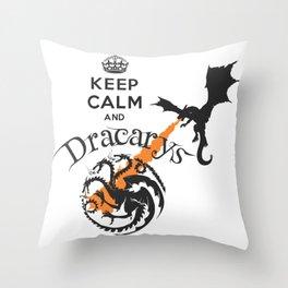 Keep Calm and Drakarys Throw Pillow