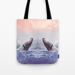 Mount Whales Tote Bag