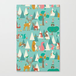 Forest Hideaway-in the forest Canvas Print