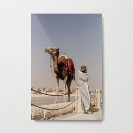 Camels and Cell Phones Metal Print