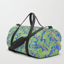Vibrant Green Ginkgo Leaves in Dancing Branches Duffle Bag