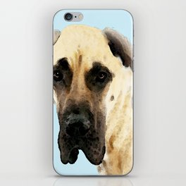 Great Dane Art - Dog Painting by Sharon Cummings iPhone Skin