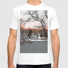 Tranquility White MEDIUM Mens Fitted Tee