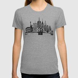 Linocut New York T-shirt