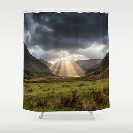 Nant Ffrancon Pass Snowdonia Shower Curtain