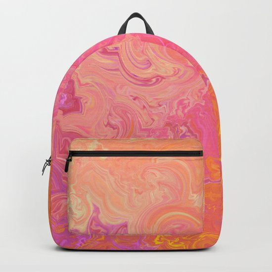 Swirling Warm Paint Colors Backpack