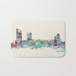 Grand Rapids Michigan skyline Bath Mat