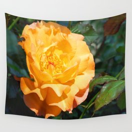 Yellow Summer Rose Wall Tapestry