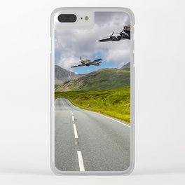 Lancaster Bomber in Snowdonia Clear iPhone Case