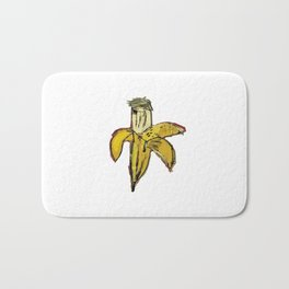 basquiat dinosaurus banana Bath Mat