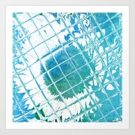 Water Garden Reflections Art Print