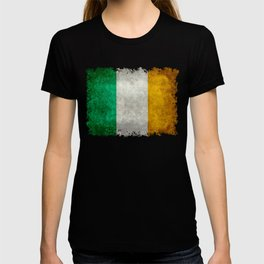 Flag of the Republic of Ireland, Vintage style T-shirt