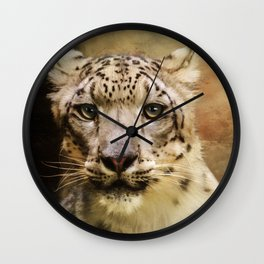 Hope For Tomorrow - Snow Leopard Art Wall Clock