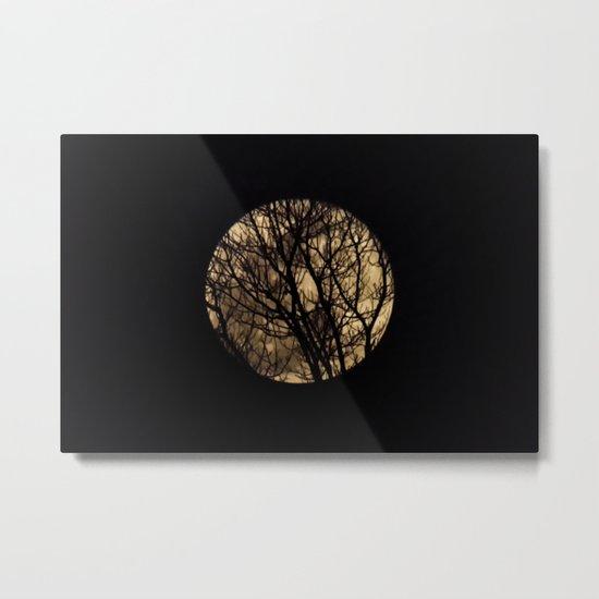 Full Moon though the trees Metal Print