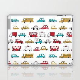 Cars trucks buses city highway transportation illustration cute kids room gifts Laptop & iPad Skin