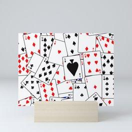 Random Playing Card Background Mini Art Print