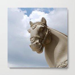Stone Horse Head 2 Metal Print