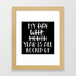 My Year is all Booked Up (Inverted) Framed Art Print