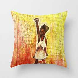 2011 Power to the People and Justice Throw Pillow