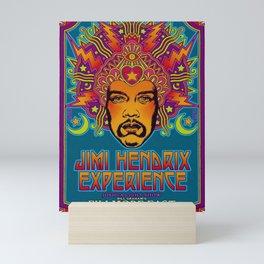 1968 Jimi Hendrix Experience Fillmore East San Francisco Concert Poster Mini Art Print