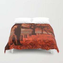 On the road to Autumn Duvet Cover