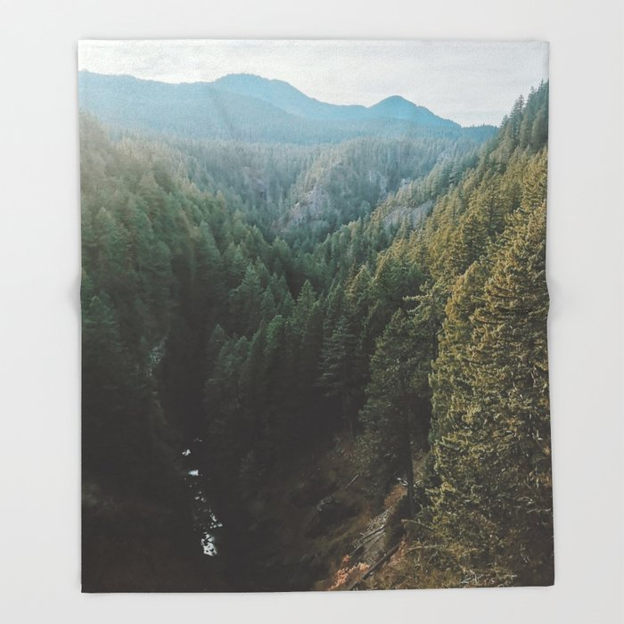 Salt Creek Falls Lookout Throw Blanket