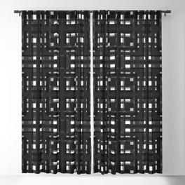 PEPERE dark black white grey check pattern plaid Blackout Curtain