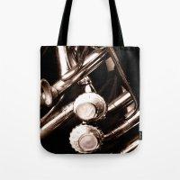 jazz Tote Bags featuring Jazz by KunstFabrik_StaticMovement Manu Jobst