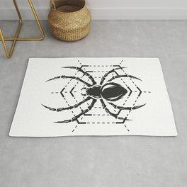 Spider Arachnid Silhouette Cut Out Rug