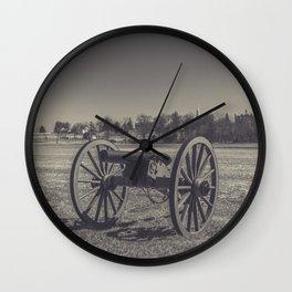 Artillery Placement Gettysburg National Military Park Pennsylvania Civil War Battlefield  Wall Clock