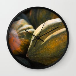 Pile of Hubbard Squash Wall Clock