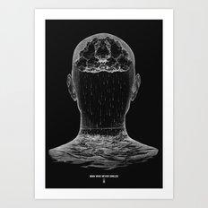 man who never smiled II Art Print