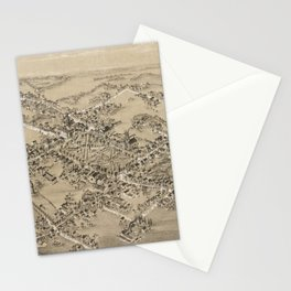 Vintage Pictorial Map of Guilford CT (1881) Stationery Cards