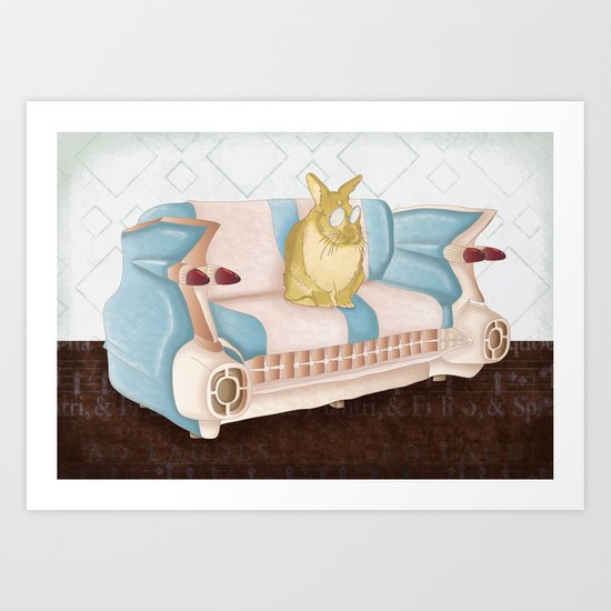 Bunny Business  Art Print