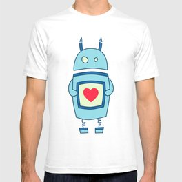 Cute Clumsy Robot With Heart T-shirt